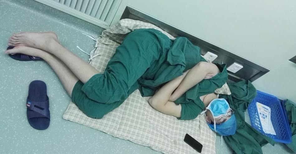 surgeon-hero-sleeping-hospital-floor-2